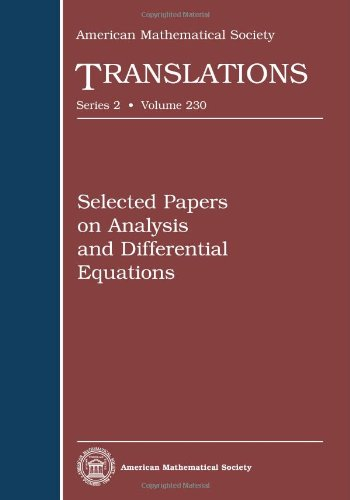 Selected Papers on Analysis and Differential Equations: American Mathematical Society