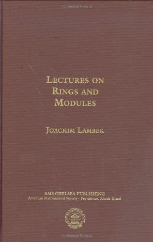 9780821849002: Lectures on Rings and Modules (AMS Chelsea Publishing)