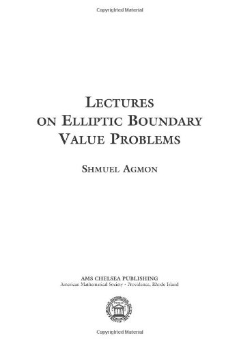 9780821849101: Lectures on Elliptic Boundary Value Problems (AMS Chelsea Publishing)
