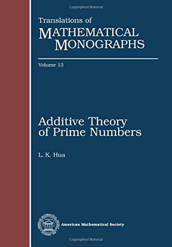 Additive Theory of Prime Numbers (Translations of Mathematical Monographs)