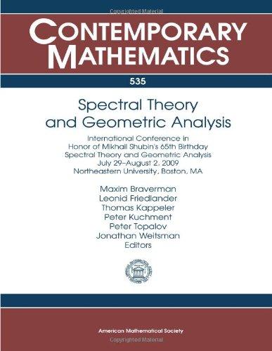 Spectral Theory and Geometric Analysis (Contemporary Mathematics): Maxim Braverman; Leonid