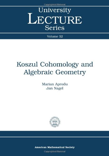 9780821849644: Koszul Cohomology and Algebraic Geometry