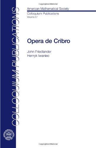 9780821849705: Opera De Cribro (Colloquium Publications) (American Mathematical Society Colloquium Publications)