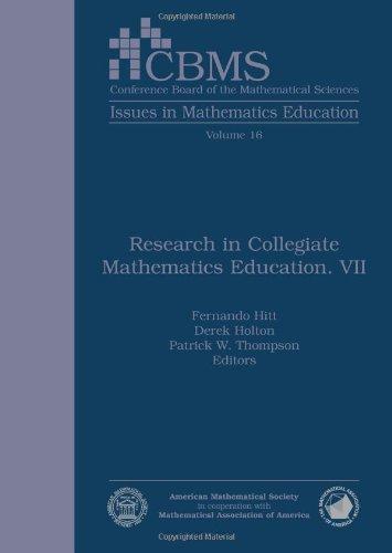 9780821849965: Research in Collegiate Mathematics Education. VII (Cbms Issues in Mathematics Education)
