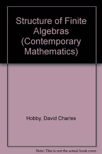 9780821850732: Structure of Finite Algebras (Contemporary Mathematics)