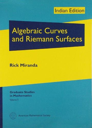 9780821852187: Algebraic Curves and Riemann Surfaces