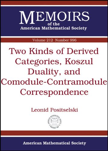 9780821852965: 212: Two Kinds of Derived Categories, Koszul Duality, and Comodule-Contramodule Correspondence (Memoirs of the American Mathematical Society)