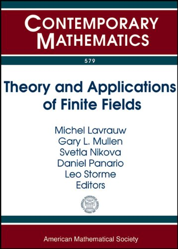 Theory and Applications of Finite Fields: The: Amer Mathematical Society