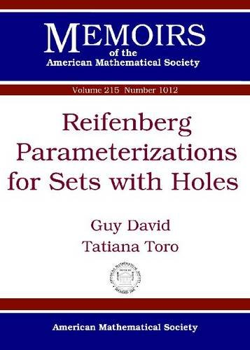 9780821853108: Reifenberg Parameterizations for Sets With Holes (Memoirs of the American Mathematical Society)