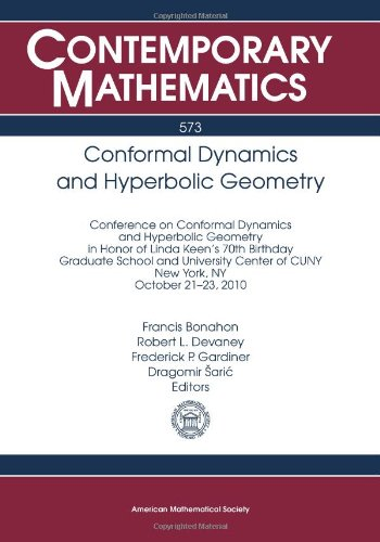 Conformal Dynamics and Hyperbolic Geometry: Conference on: Amer Mathematical Society