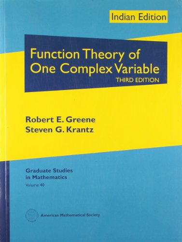 9780821868775: Function Theory of One Complex Variable