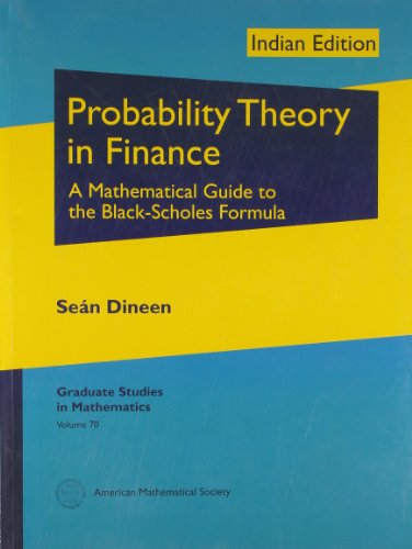 9780821868812: Probability Theory in Finance: A Mathematical Guide to the Black-Scholes Formula