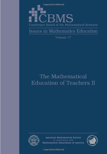 9780821869260: The Mathematical Education of Teachers II (Cbms Issues in Mathematics Education)