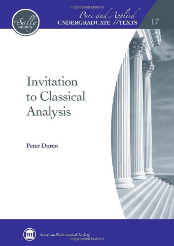 9780821869321: Invitation to Classical Analysis (Pure and Applied Undergraduate Texts)