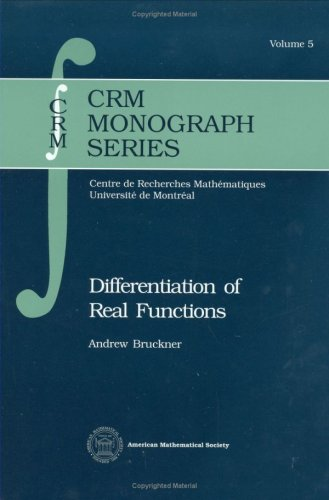 9780821869901: Differentiation of Real Functions (Crm Monograph Series)