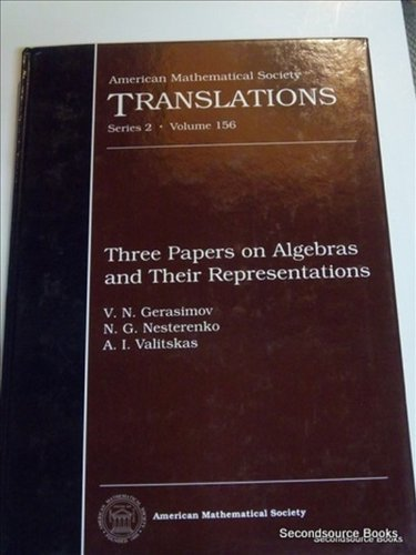 Three Papers on Algebras and Their Representations: Gerasimov, V. N.,
