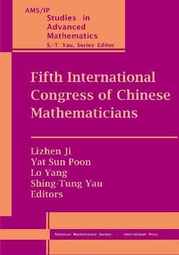 Fifth International Congress of Chinese Mathematicians (Ams/Ip: Amer Mathematical Society