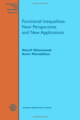 9780821891520: Functional Inequalities: New Perspectives and New Applications (Mathematical Surveys and Monographs)