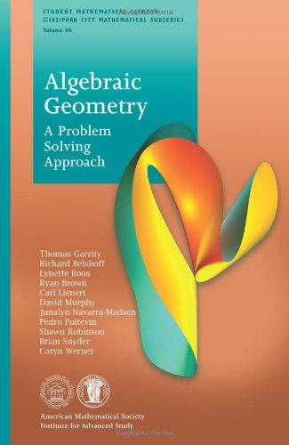 9780821893968: Algebraic Geometry: A Problem Solving Approach (Student Mathematical Library)