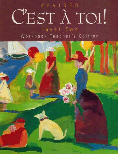 9780821922828: C'est a Toi Level 2 Revised Workbook Teacher's Edition