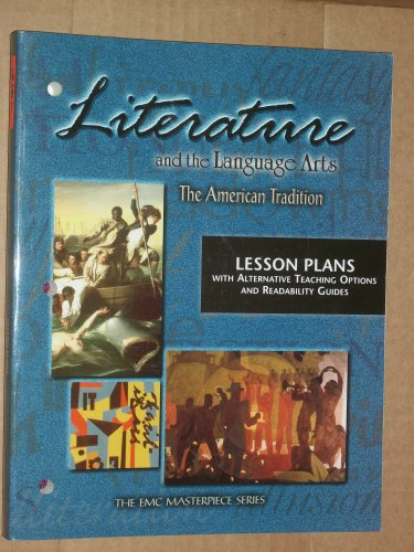 9780821926871: Literature and the Language Arts: The American Tradition - Lesson Plans with Alternative Teaching Options and Readability Guides