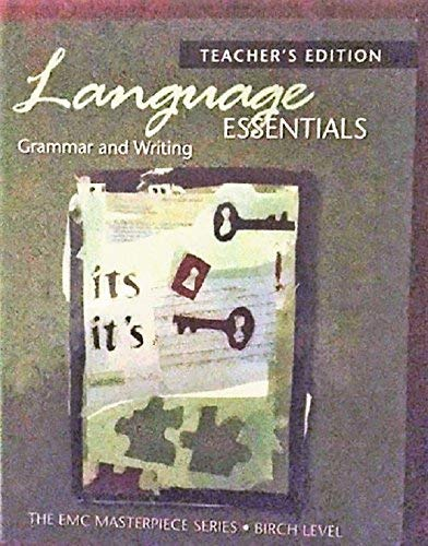 9780821930304: Language Essentials: Grammar and Writing (Birch Level) [Teacher's Edition]