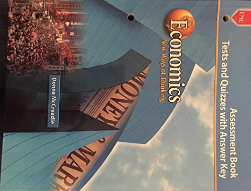 9780821934036: Economics New Ways of Thinking (Assessment Book Tests & Quizzes with Answer Key)