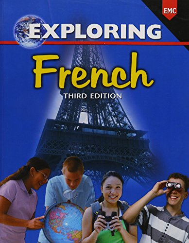 Exploring French (French Edition) 9780821934791 * Twenty thematic units expose students to a variety of words, expressions, and structures * Builds skills in speaking, listening, reading, and writing * Provides students a taste of the art, music, and literature of French-speaking countries through realia-based activities * Motivates students to speak and participate beginning with the first lesson * Generates enthusiasm for language-learning through a friendly, visual approach * Helps students understand the culture of French-speaking countries while developing an appreciation of their own culture * activities duplicate the natural process of language acquisition through the use of visual image symbol cards * Puzzles and other fun activities engage and entertain students