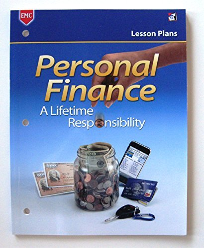Personal Finance A Lifetime Responsibility/Lesson Plans: Kimbrell; Dungan