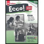 9780821946435: Ecco Uno, Level 1-Workbook - With CD - 09 edition (Ecco! Italiano, 1)