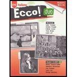 9780821946565: Ecco Due - Workbook - 09 edition With CD (Ecco! Italiano, 2)