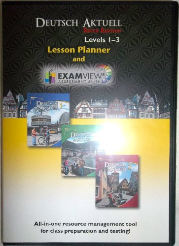 9780821954539: DEUTSCH AKTUELL, LESSON PLANNER and EXAM REVIEW, levels 1-3, Sixth edition (Exam View assessment Suite)