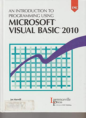 9780821962022: An Introduction to Programming Using Microsoft Visual Basic 2010
