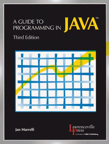 A Guide to Programming in Java: Text (Paperback): Jan Marrelli