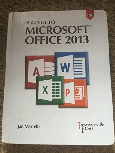 9780821965597: A Guide to Microsoft Office 2013