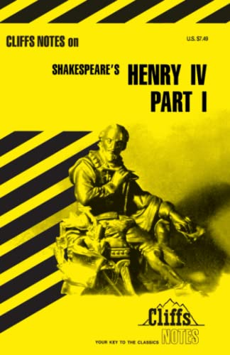 9780822000235: King Henry IV, Part 1 (Cliffs Notes)