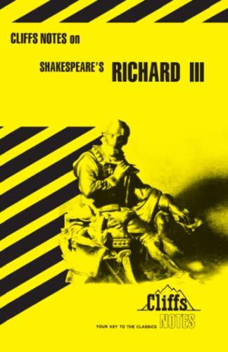 9780822000716: Shakespeare's Richard III (Cliffs Notes)