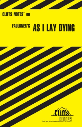 9780822002109: As I Lay Dying (Cliffs Notes)