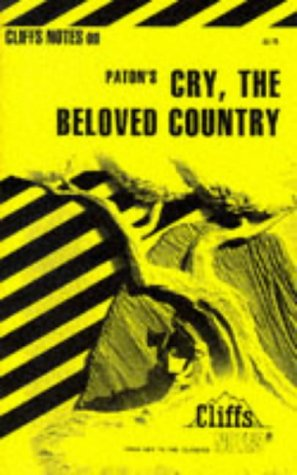 9780822003397: Cry, the Beloved Country (Cliffs Notes)