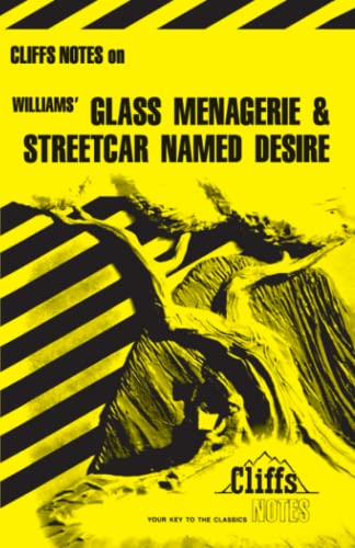 9780822005339: Williams' Glass Menagerie and Streetcar Named Desire (Cliffs Notes