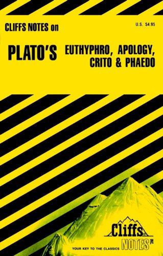 9780822010449: Plato's Euthyphro, Apology, Crito and Phaedo (Cliffs Notes)