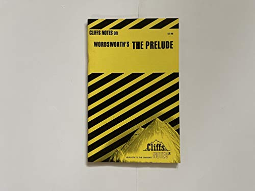 9780822010753: CliffsNotes on Wordsworth's The Prelude