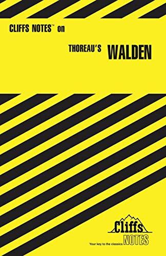 9780822013587: Thoreau's Walden (Cliffs Notes)