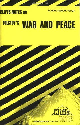 9780822013662: Tolstoy's War and Peace (Cliffs Notes)