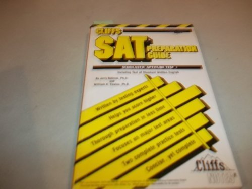 Stock image for Cliffs: Scholastic Aptitude Test/Preparation Guide for sale by Anderson Book