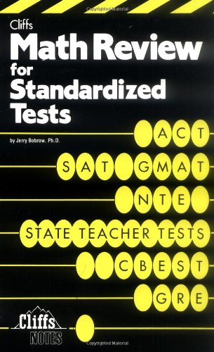 9780822020332: Math Review For Standardized Tests (Cliffs Test Prep)