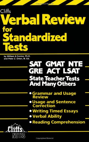 9780822020349: Verbal Review for Standardized Tests (Cliffs Test Prep)