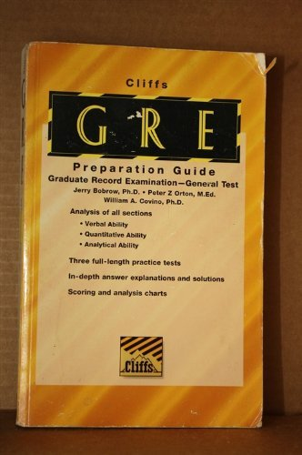 Cliff's Graduate Record Examination General Test: Preparation Guide (Cliffs Preparation Guides...