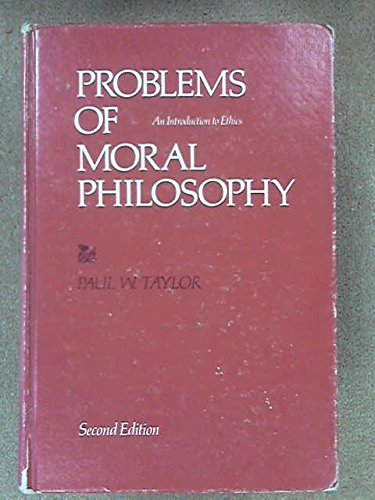 9780822100188: Problems of moral philosophy;: An introduction to ethics