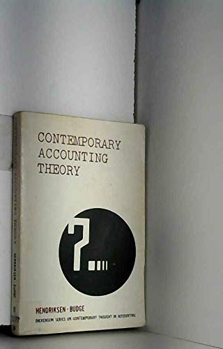 9780822101161: Contemporary Accounting Theory
